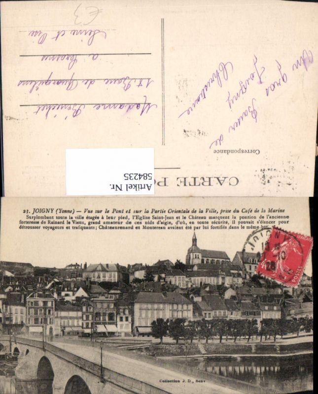 584235,Joigny Yonne Vue sur le Pont et sul la Partie Orientale de la Ville Brücke France