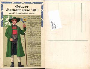 584383,Reklame AK Graz Grazer Herbstmesse 1913 Ferdinand Pamberger sign.