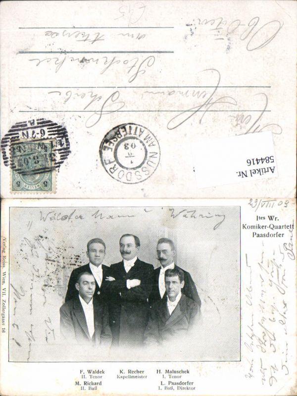 584416,1. Wiener Komiker Quartett Paasdorfer Paasdorf F. Waldek K. Recher H. Maluschek M. Richard L. Paasdorfer