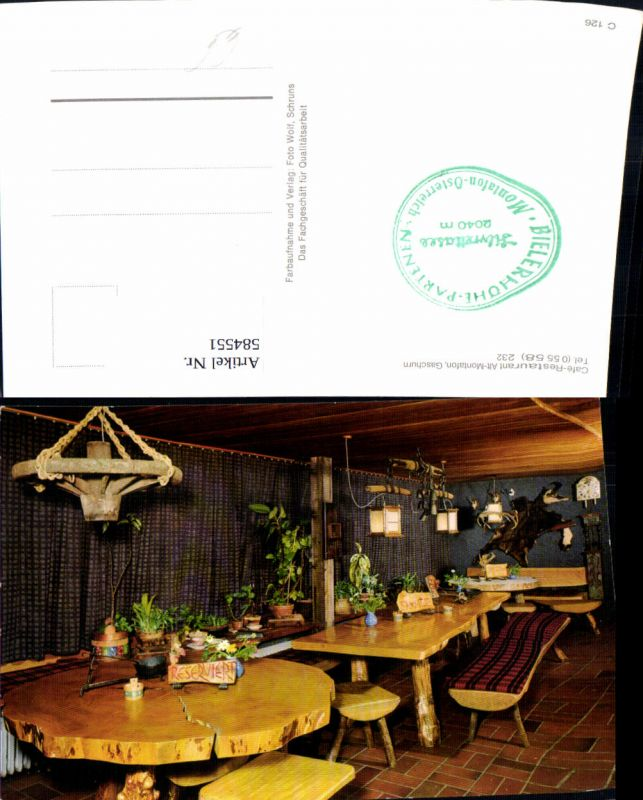 584551,Gaschurn Cafe Restaurant Alt-Montafon Innenansicht