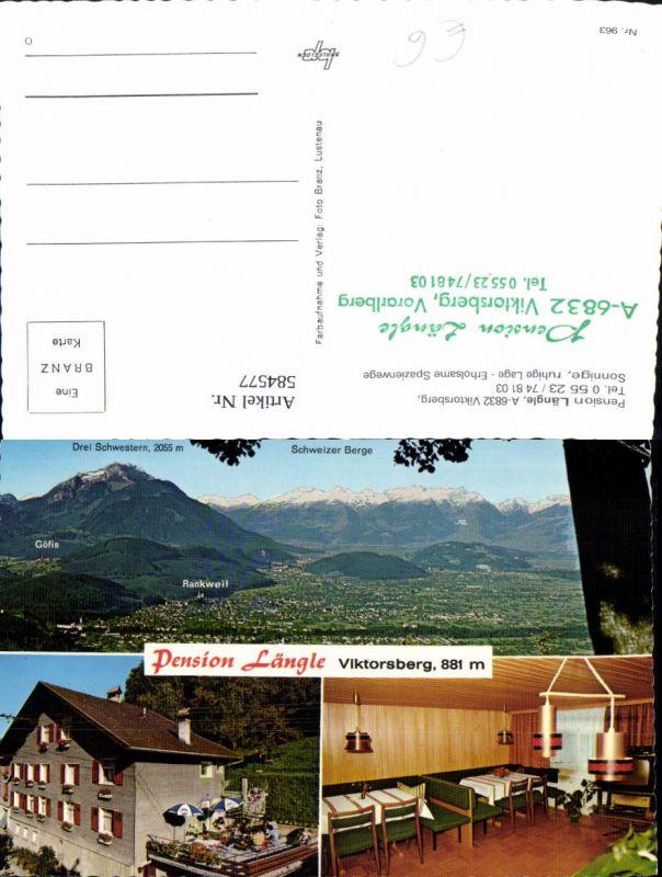584577,Mehrbild Ak Viktorsberg Pension Längle