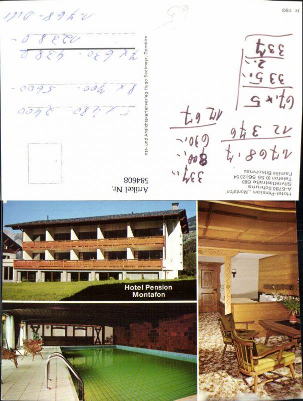 584608,Mehrbild Ak Schruns Hotel Pension Montafon Hallenbad Gästezimmer