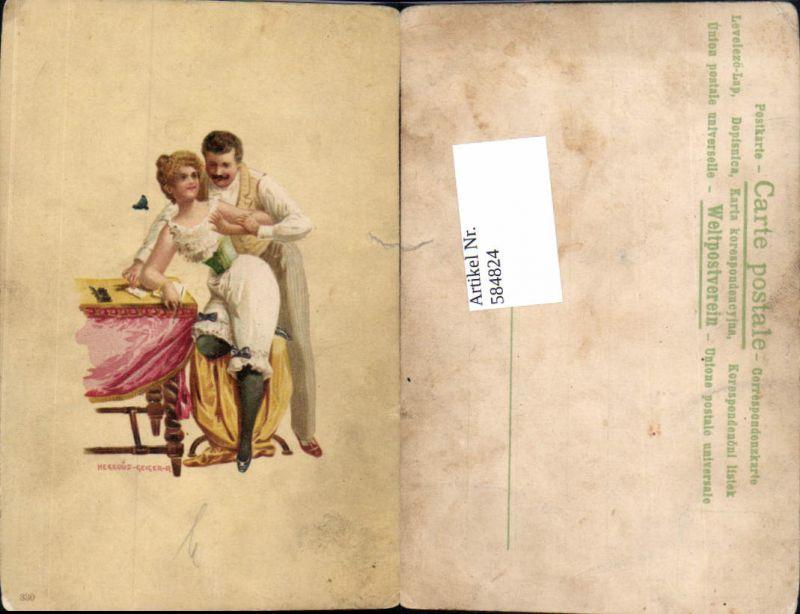584824,Jugendstil Lithographie Hegedus Geiger R. Erotik Tänzerin Tanz
