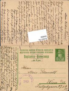 584890,Zensur Beleg Jugoslawien nach Wien 1947 Zensurstelle 189
