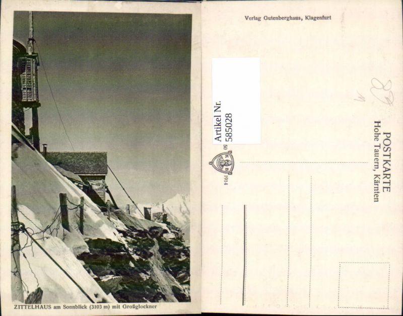 585028,Rauris Zittelhaus a. Sonnblick m. Großglockner Winteransicht