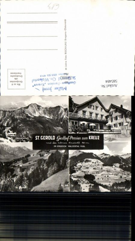 585484,Mehrbild Ak Sankt Gerold Gasthof Pension zum Kreuz Kleinwalsertal