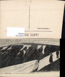 585683,Gerardmer Le Sommet du Hohneck couvert de neige France