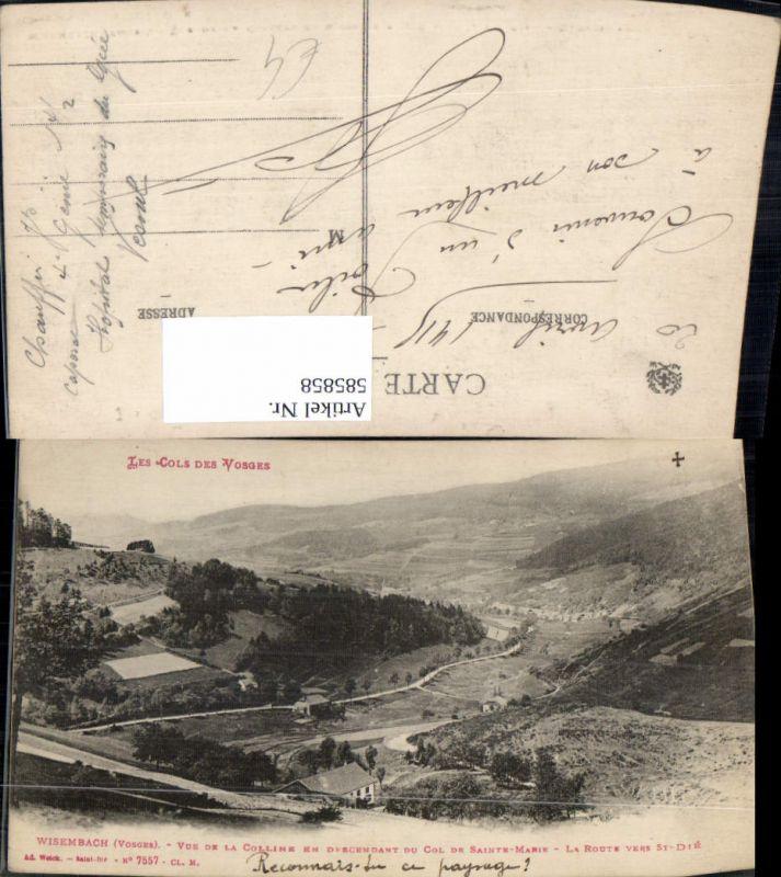 585858,Les Cols des Vosges Wisembach Vosges Vue de la Colline en Descendant du Col de Sainte-Marie France