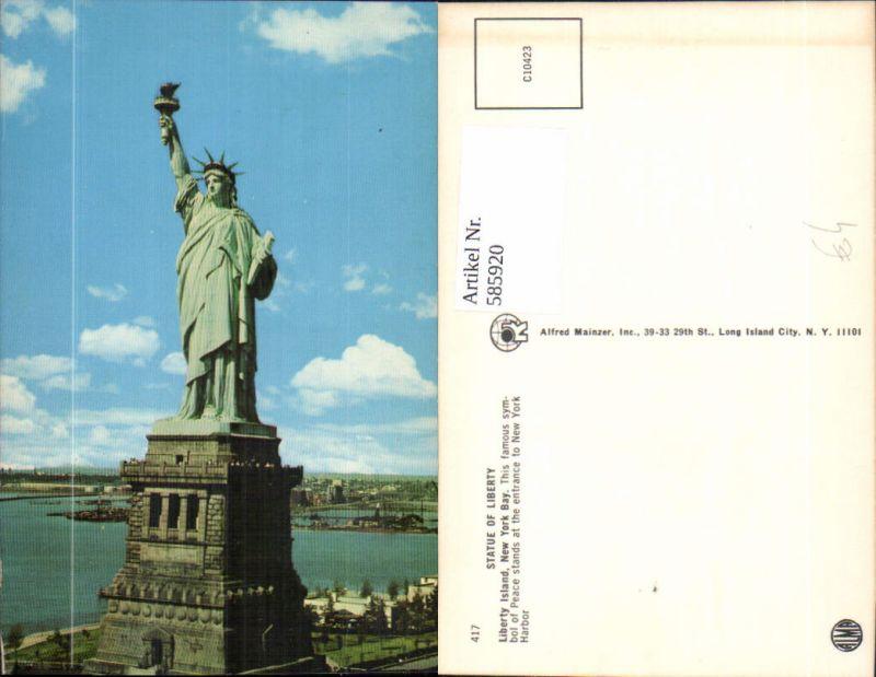 585920,Statue of Liberty Liberty Island Freiheitsstatue New York Bay New York City