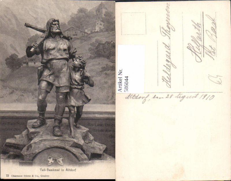 586044,Foto Ak Tell Denkmal in Altdorf Switzerland