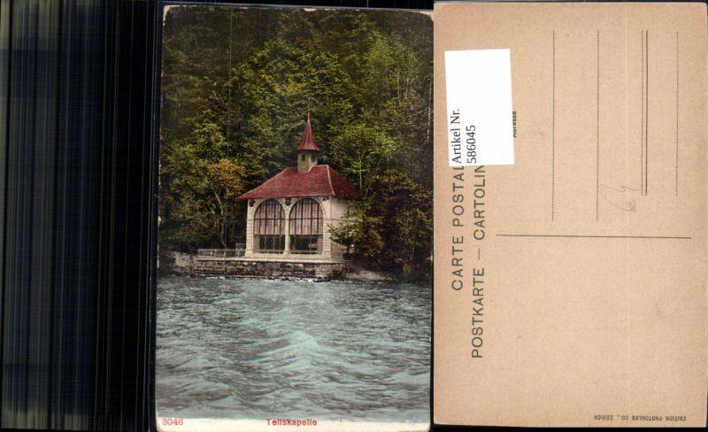 586045,Sisikon Tellskapelle Kapelle Switzerland
