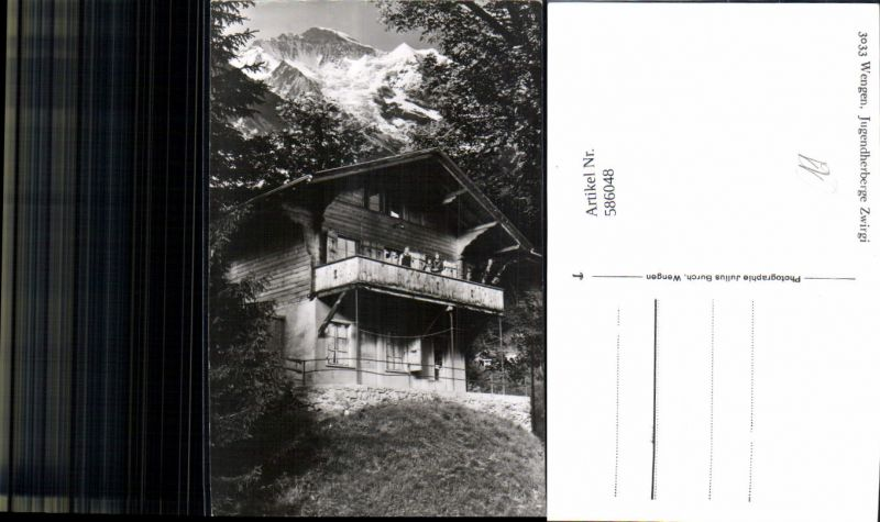 586048,Foto Ak Wengen Jugendherberge Zwirgi Switzerland