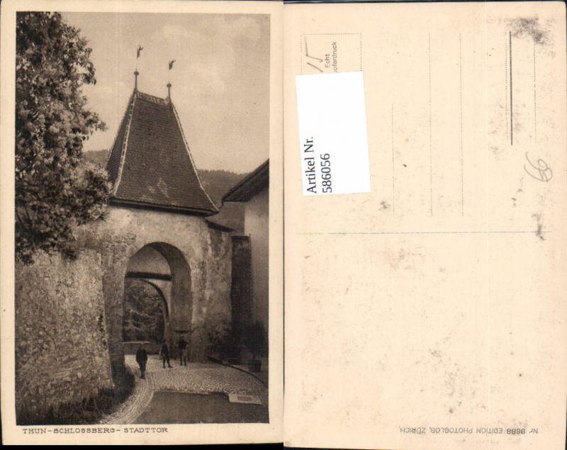 586056,Thun Schlossberg Stadttor Switzerland
