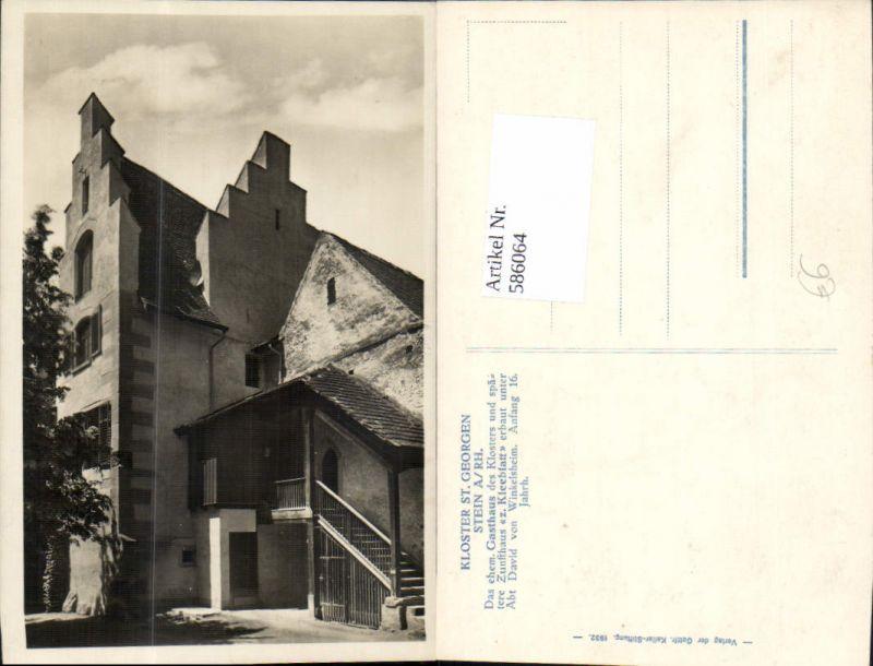 586064,Kloster St Georgen Stein a. Rhein Gasthaus Kleeblatt Switzerland