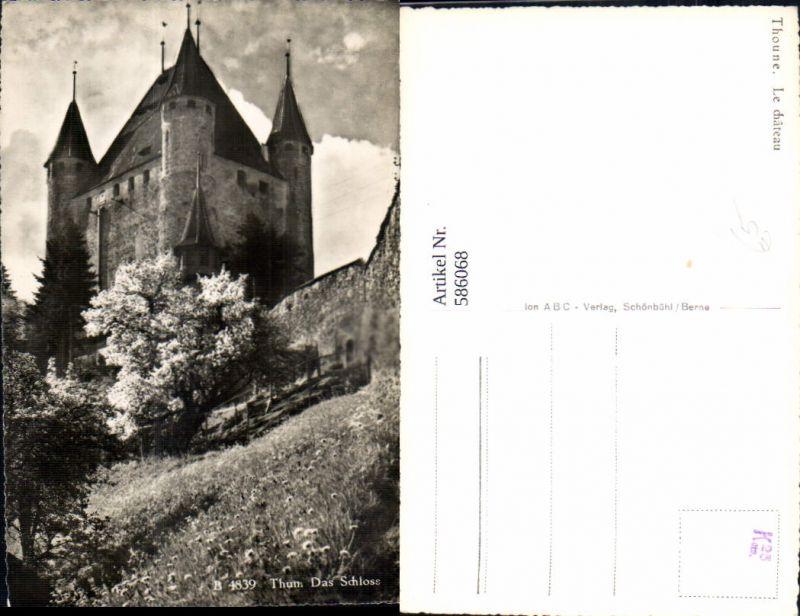 586068,Foto Ak Thoune Le chateau Schloss Switzerland