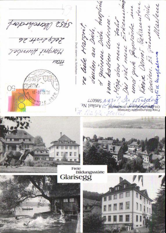 586077,Mehrbild Ak Glarisegg Freie Bildungsstätte Steckborn Switzerland