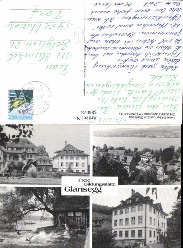 586078,Mehrbild Ak Glarisegg Freie Bildungsstätte Steckborn Switzerland