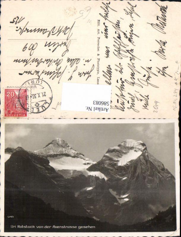 586083,Uri Rotstock v. d. Axenstraße aus gesehen b. Flüelen Switzerland