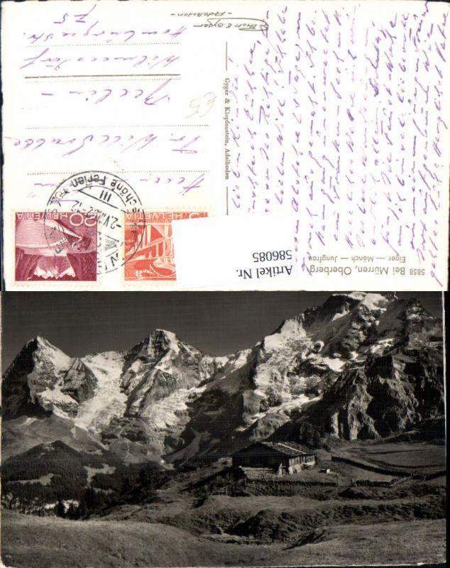 586085,Foto Ak Bei Mürren Oberberg Eiger Mönch u. Jungfrau Switzerland