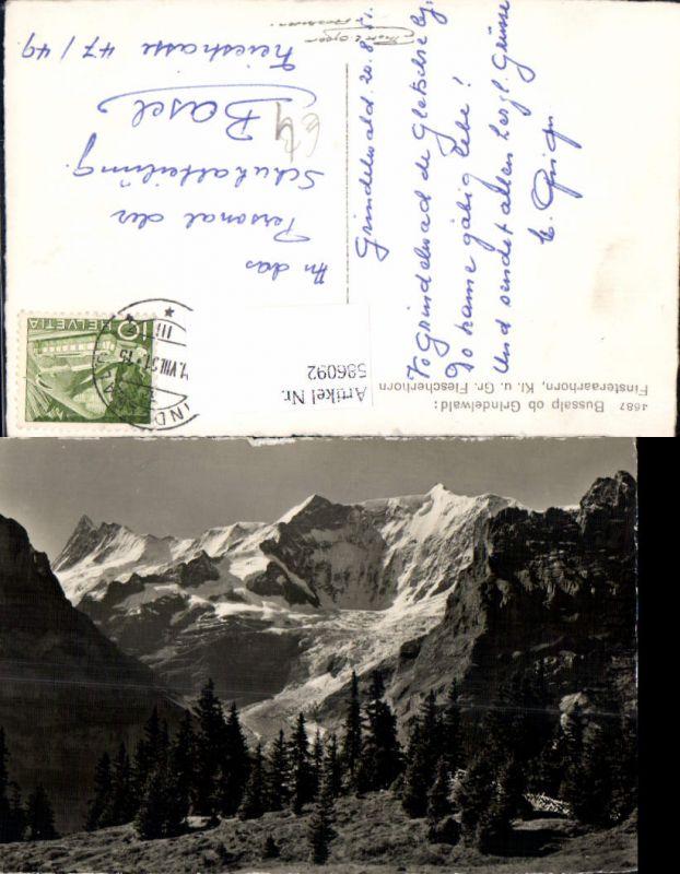 586092,Foto Ak Bussalp ob Grindelwald Finsteraarhorn Switzerland