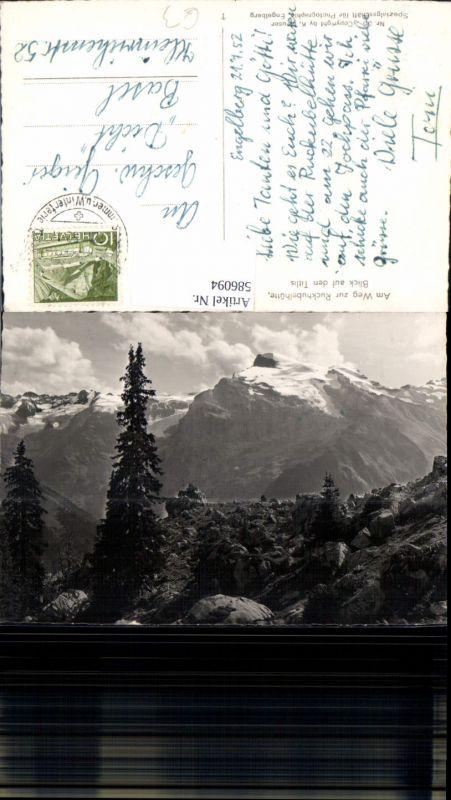 586094,Engelberg Am Weg zur Rugghubelhütte Ruckhubelhütte Blick auf d. TitlisSwitzerland