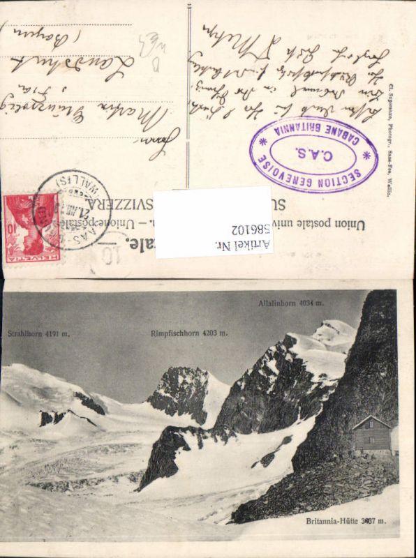 586102,Britannia-Hütte Britanniahütte Strahlhorn Allalinhorn Saas-Fee Switzerland