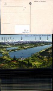 586119,Lage Ak Lacs de Neuchatel et de Morat Panorama des Alpes Neuenburg Switzerland