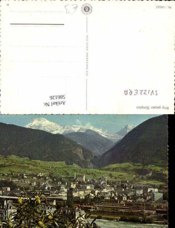 586126,Brig geg. Simplon Brig-Glis Switzerland