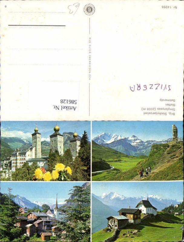586128,Mehrbild Ak Brig Brig-Glis Stockalperpalast Simplonpass Switzerland