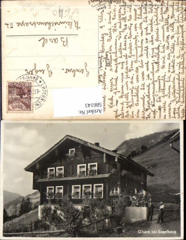 586143,Seltene Partie Ghärst b. Engelberg Haus Bahnpost Zug 70 Luzern Engelberg Switzerland