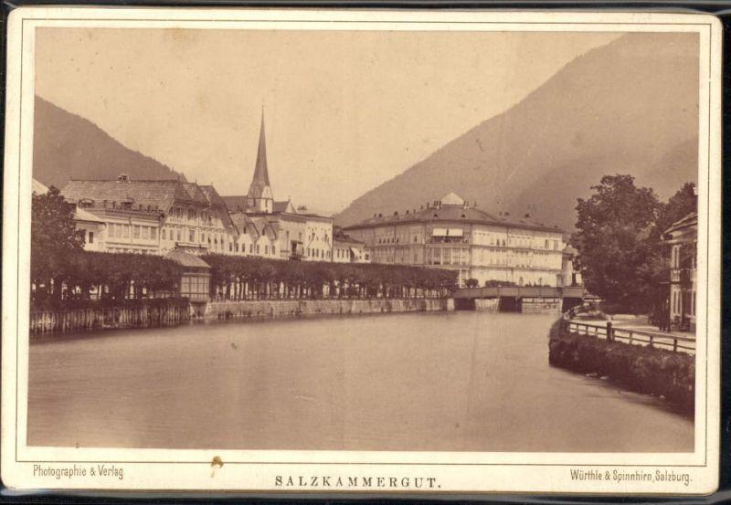 400666,CDV Bad Ischl Esplanade Salzkammergut pub Würthle & Spinnhirn Salzburg