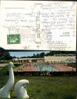 403973,Auvergne Puy-de-Dome Chatel-Guyon La piscine et les oiseaux sculptes Freibad