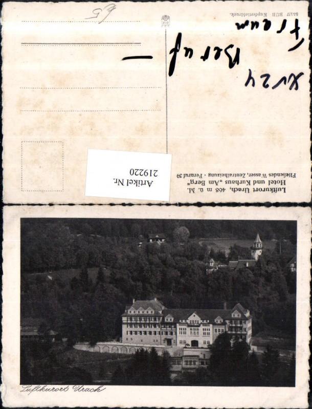 """219220,Urach Hotel u. Kurhaus """"Am Berg"""""""