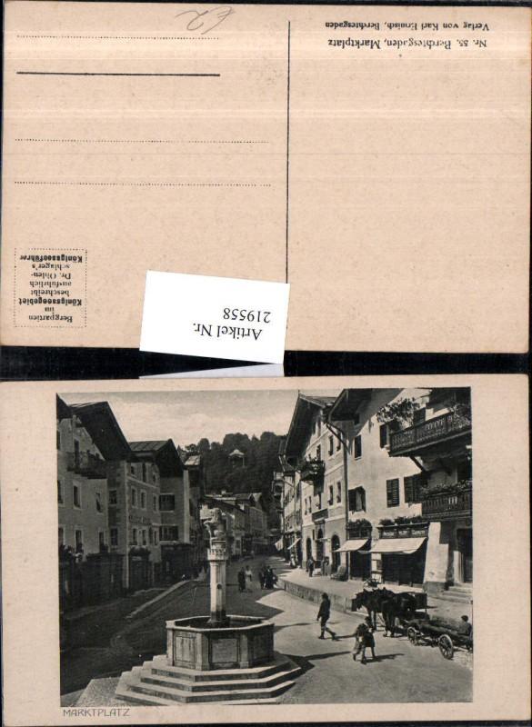 219558,Berchtesgaden Marktplatz Platz Brunnen
