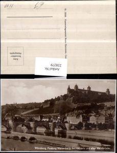228279,Würzburg Festung Marienberg m. Kloster Käppele u. Alter Mainbrücke Brücke