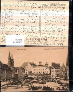 262496,Nürnberg Marktplatz Platz m. Sebalduskirche Kirche Brunnen