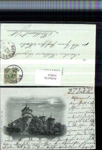 310919,Mond Litho Stuttgart Altes Schloss im Mondschein