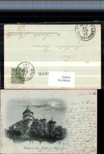 310931,Mond Litho Stuttgart Altes Schloss im Mondschein pub L. Schaller 432