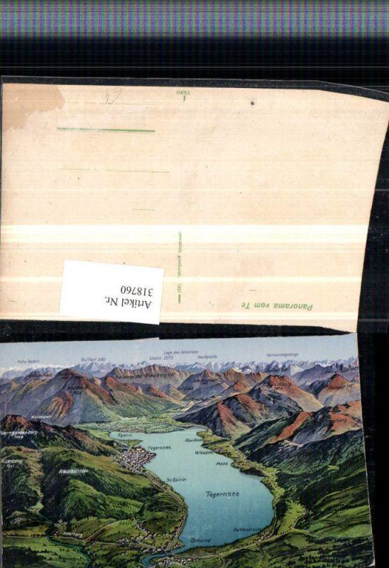 318760,Tegernsee aus d. Vogelschau Gmund Tegernsee Egern Moos
