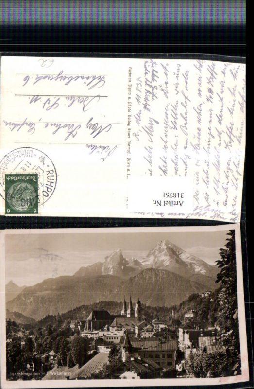 318761,Berchtesgaden Totale m. Watzmann Bergkulisse