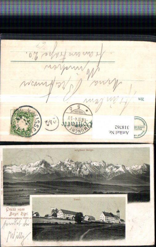 318762,Bayrischen Rigi Hohenpeißenberg b. Peißenberg Bergkulisse Mehrbildkarte