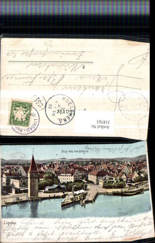 318763,Lindau im Bodensee Teilansicht vom Leuchtturm pub Ottmar Zieher