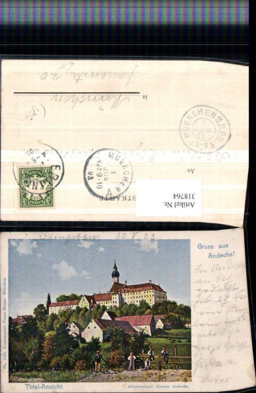 318764,Gruß aus Andechs Kloster