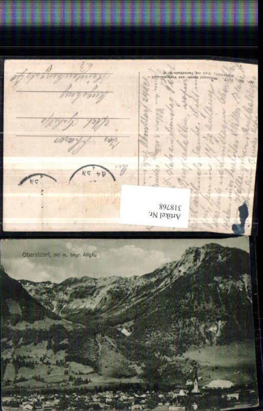318768,Oberstdorf im Allgäu Totale Bergkulisse