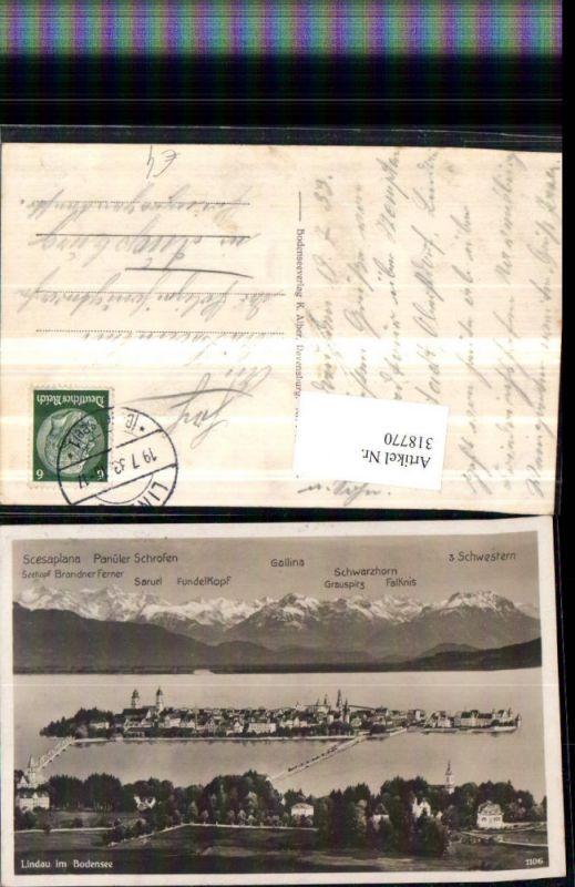 318770,Lindau im Bodensee Totale Bergkulisse