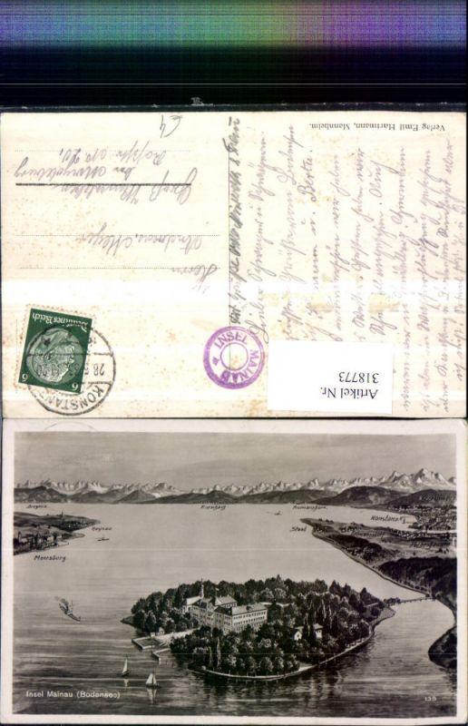 318773,Insel Mainau im Bodensee Totale Konstanz Meersburg