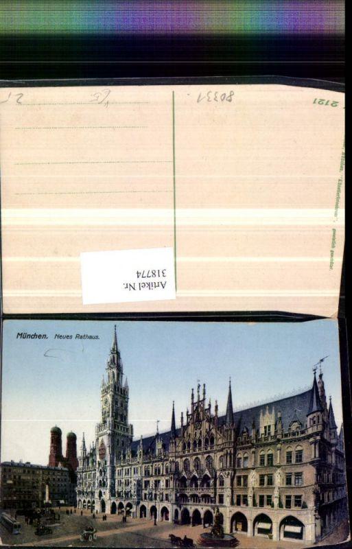 318774,München Rathaus m. Frauenkirche Brunnen pub Ottmar Zieher 2121