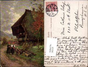 382125,Künstler AK W. Hasemann Gutach Schwarzwälder Bauernhaus pub Karl Zanger
