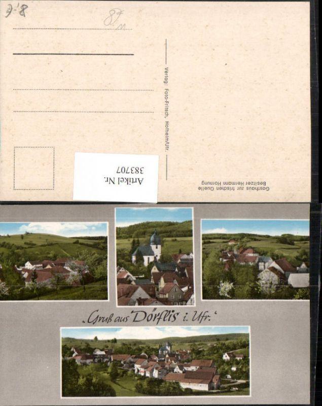 383707,Gruß aus Dörflis b. Königsberg in Bayern Totale Mehrbildkarte
