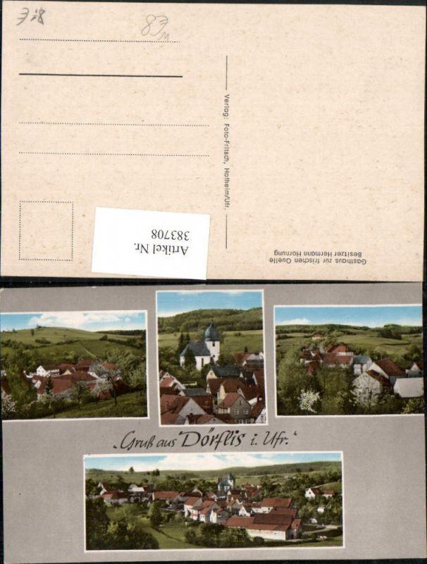 383708,Gruß aus Dörflis b. Königsberg in Bayern Totale Mehrbildkarte